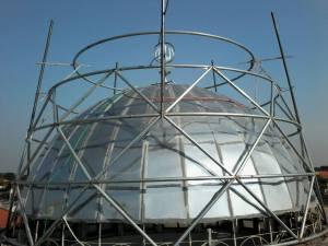 kubah masjid,rangka,struktur,pipa,hollow,atap,masjid,enamel,galvalum,warna,cat,bahan,plat,steel,stainless