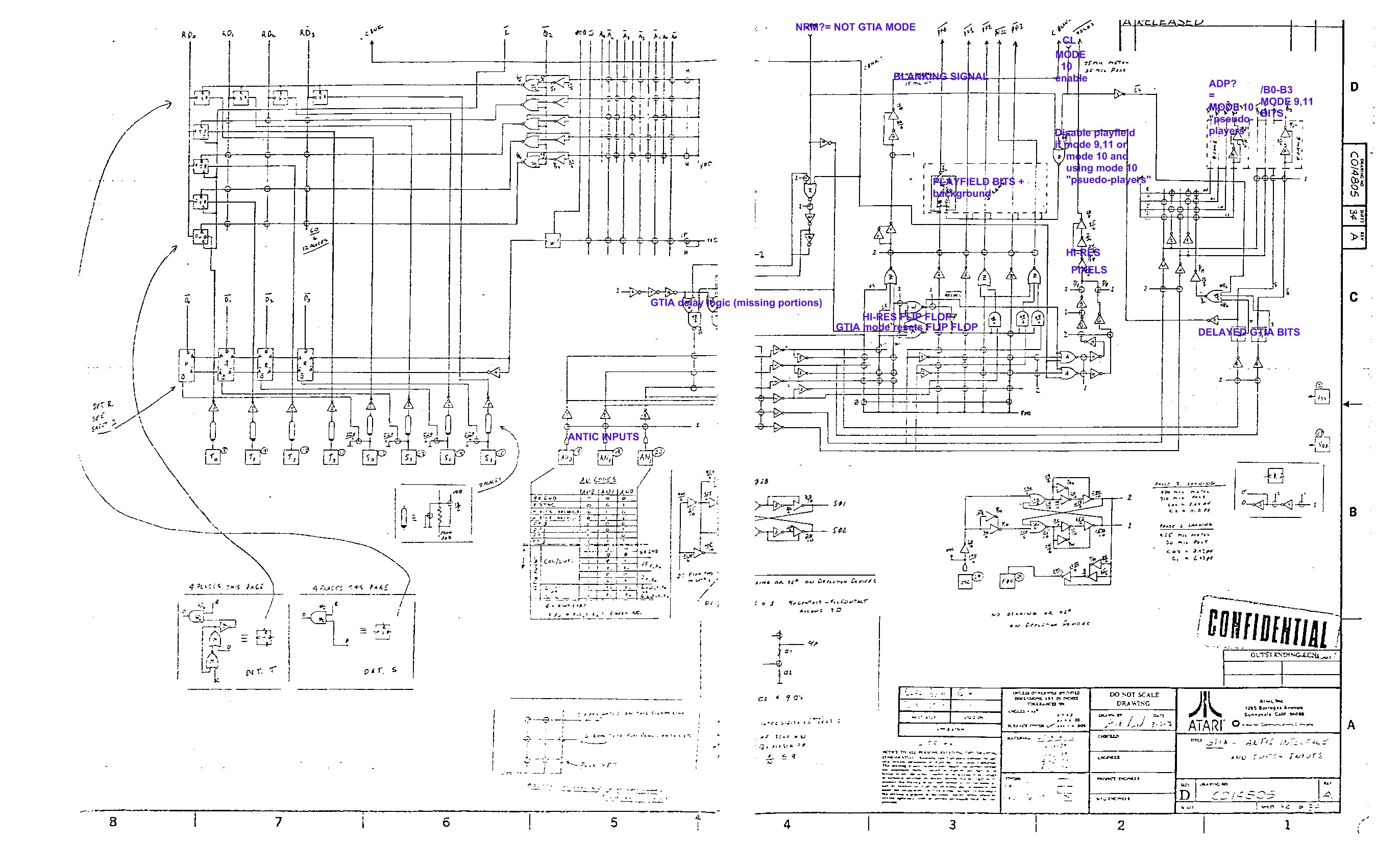 Internal Antic And Gtia Schematics