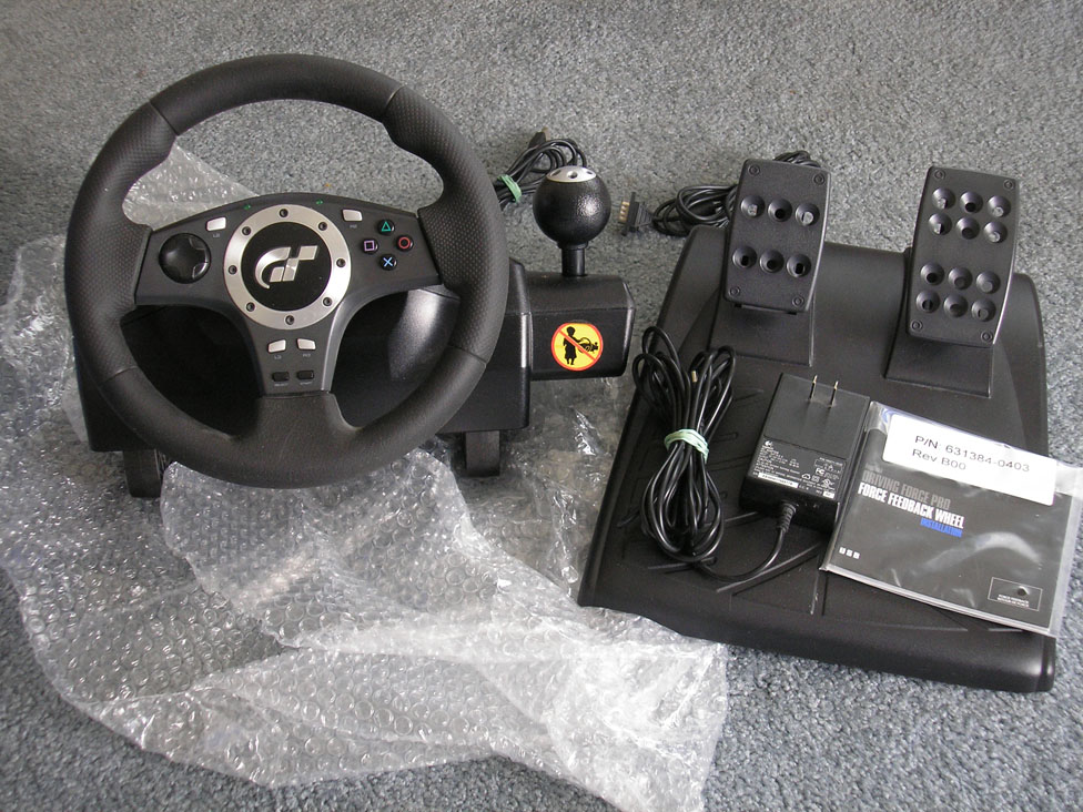 FS Logitech GT Driving Force Pro Wheel PS2PS3PC 40 Buy Sell And Trade AtariAge Forums