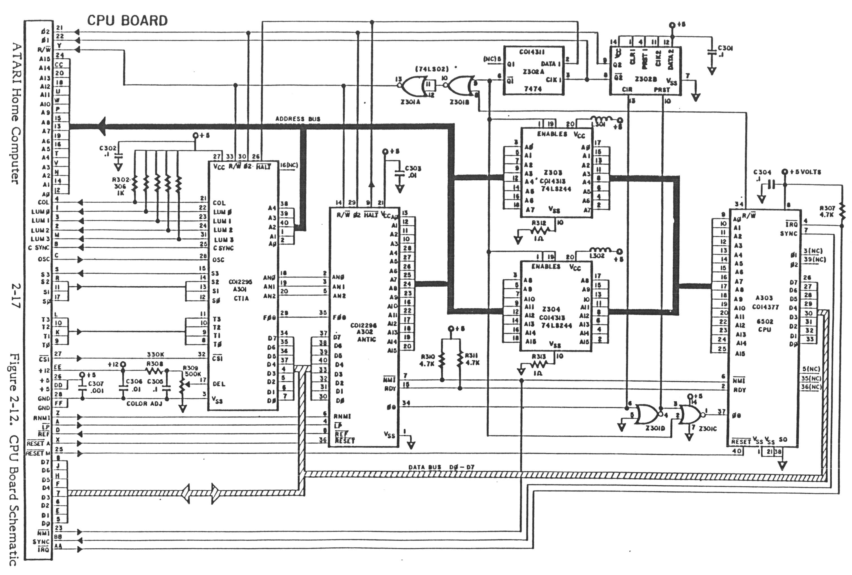8 Bit Cpu Schematic