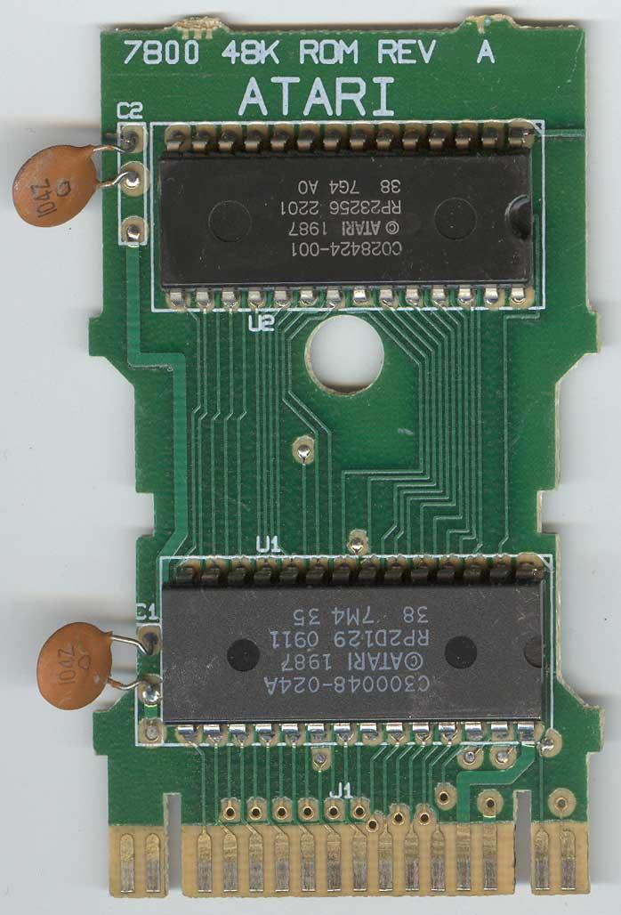 NTSC Cartridge Conversion For PAL Eproms Atari 7800