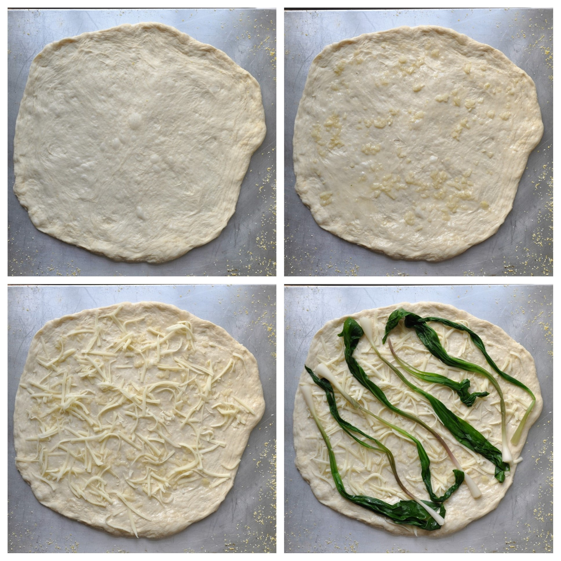 White pizza assembly