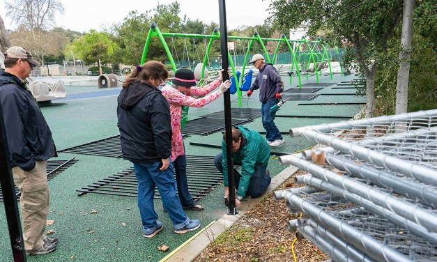 Service Groups Unite to Install Joy Playground Fencing