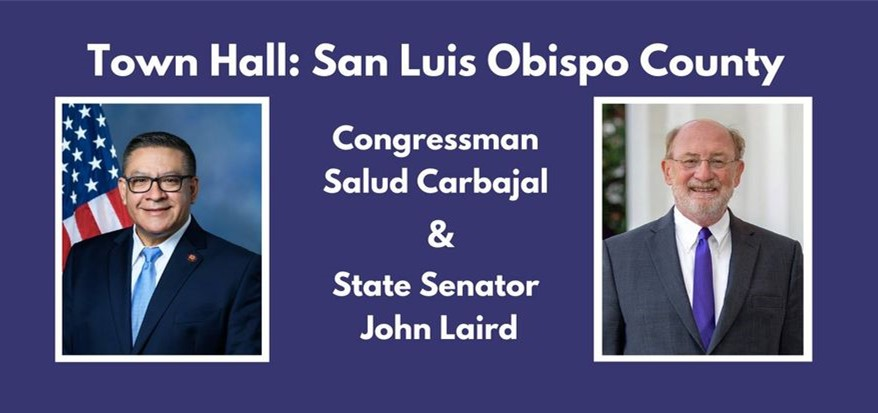 Carbajal, Laird Host a Town Hall Virtual Meeting