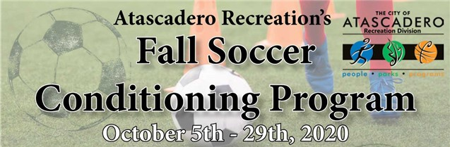 Atascadero Recreation Opens Youth Soccer Conditioning Registration
