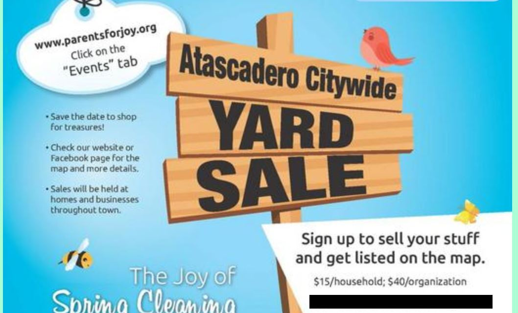 Atascadero City Wide Yard Sales Rescheduled to June 20