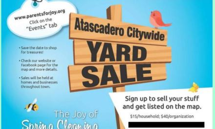 Atascadero City Wide Yard Sales Rescheduled to June 20
