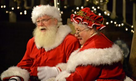 Santa and Mrs. Claus in Paso Robles City Park Holiday House Dec. 6-24