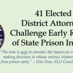 41 Elected District Attorneys Challenge Early Release State Prison Inmates