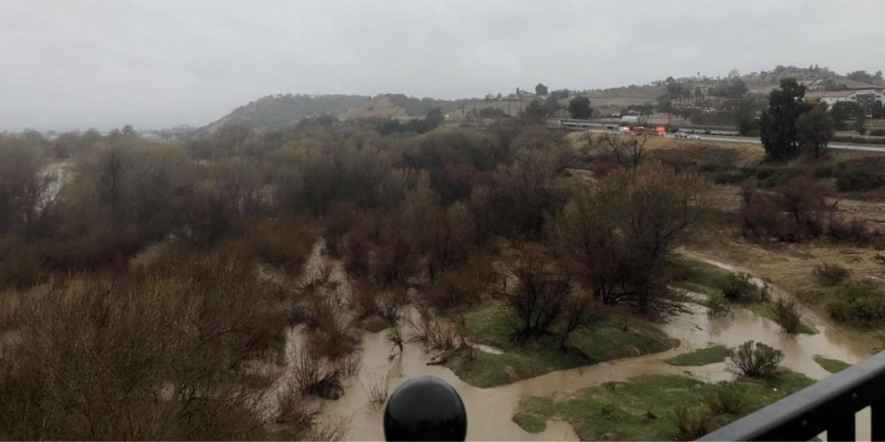 Paso Robles Fire and Emergency River Rescue Under Niblick Bridge