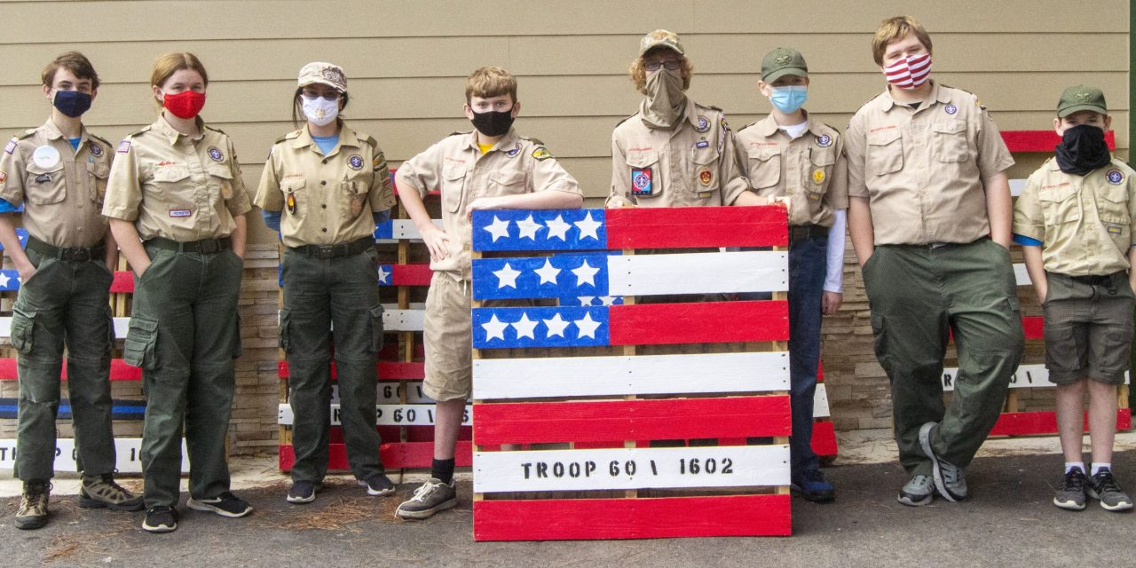 Community Supports Scout Troops by Purchasing Pallet Flags