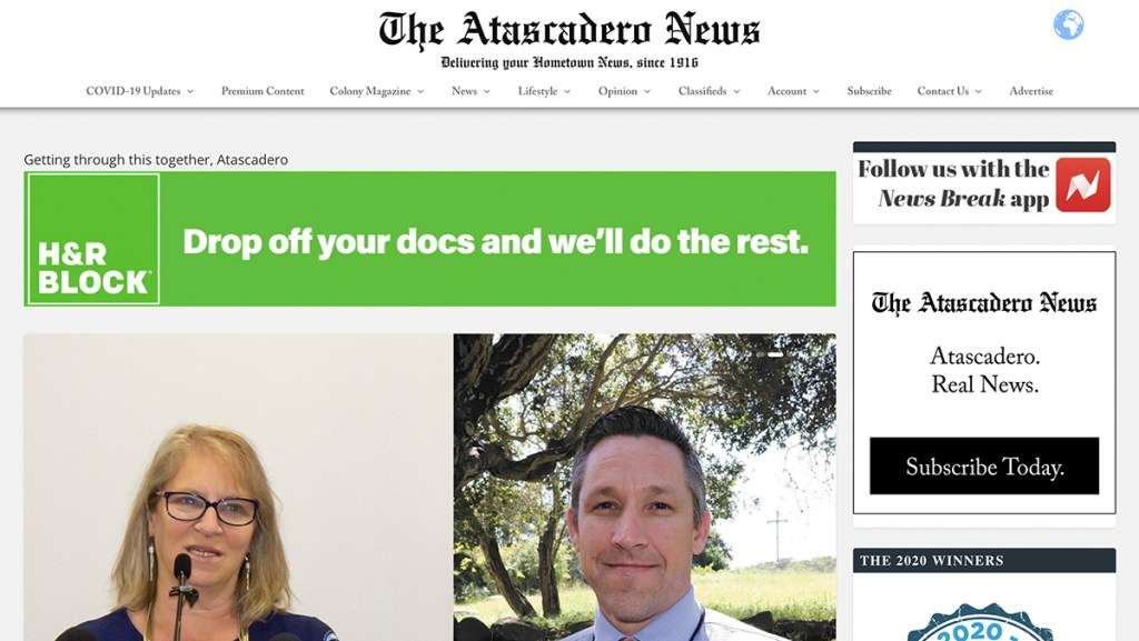 Atascadero News in English.
