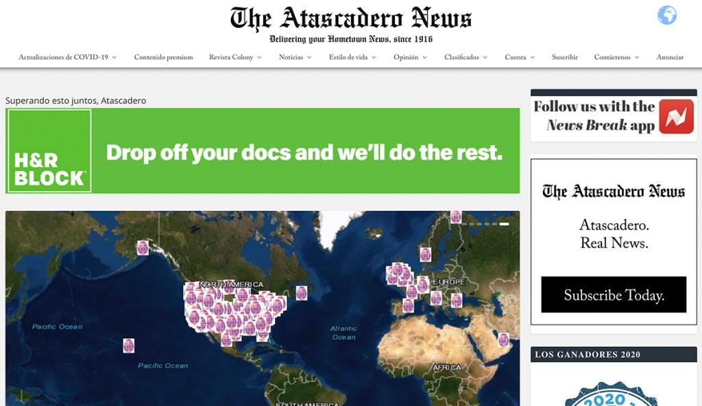 Atascadero News in Spanish.