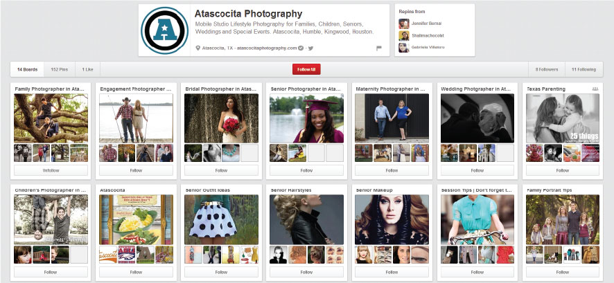 Atascocita Photography Pinterest Page
