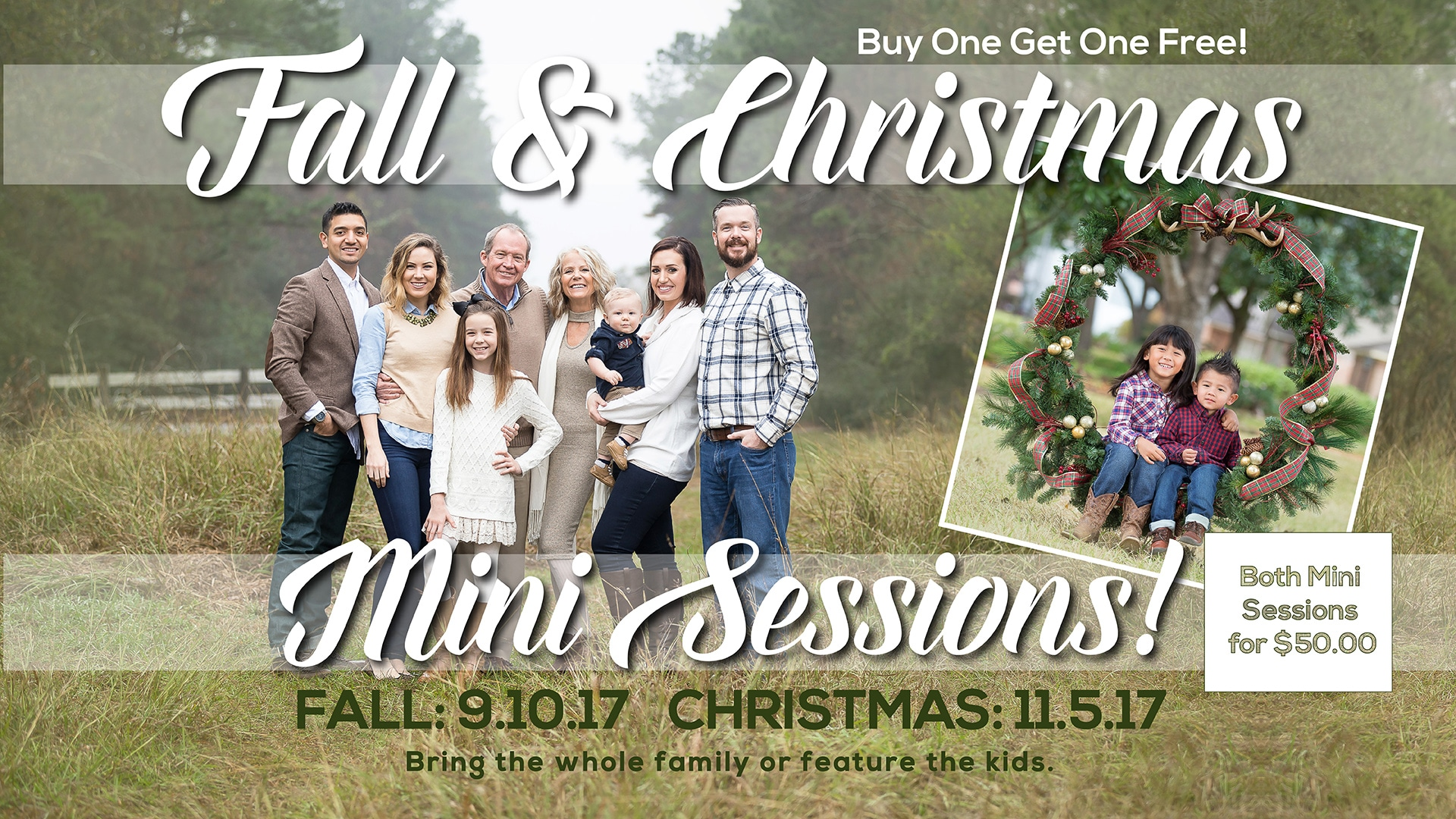 Fall Christmas Minis offer at Atascocita Photography