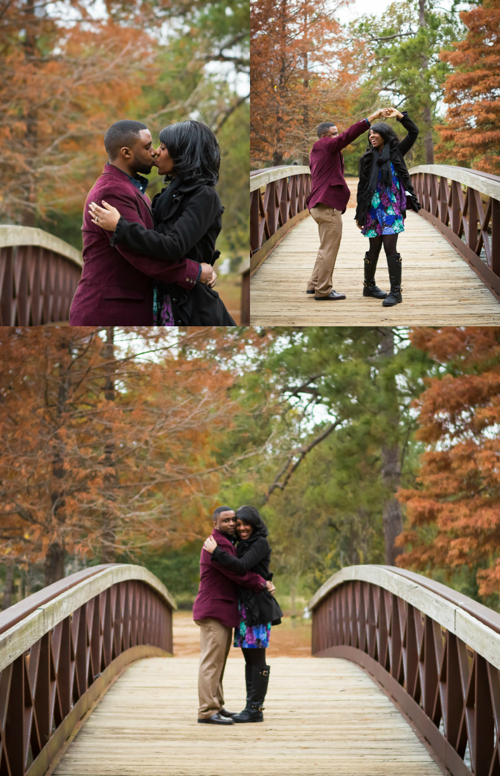 Herman Park Fall Engagement Session
