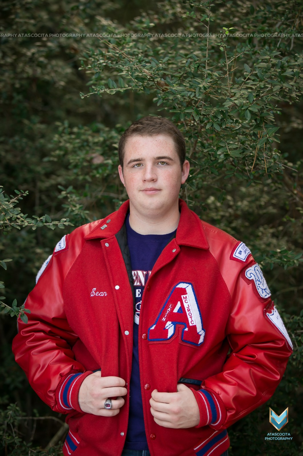 Letter Jacket Photo Atascocita High School Photographer