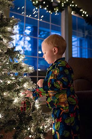 Christmas Tree Portrait Session Atascocita Photography