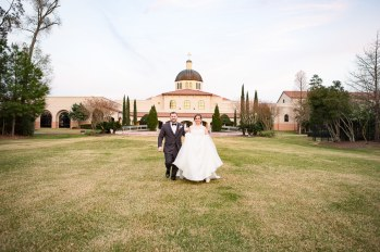 Bride and Groom at The Woodlands United Methodist Church