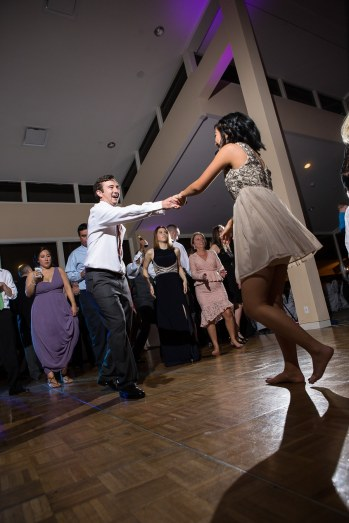 Guests displayed their dancing skills during The Woodlands Resort wedding reception.