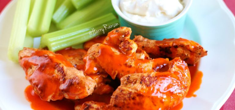 Buffalo-Style Chicken & Skinny Blue Cheese Dressing