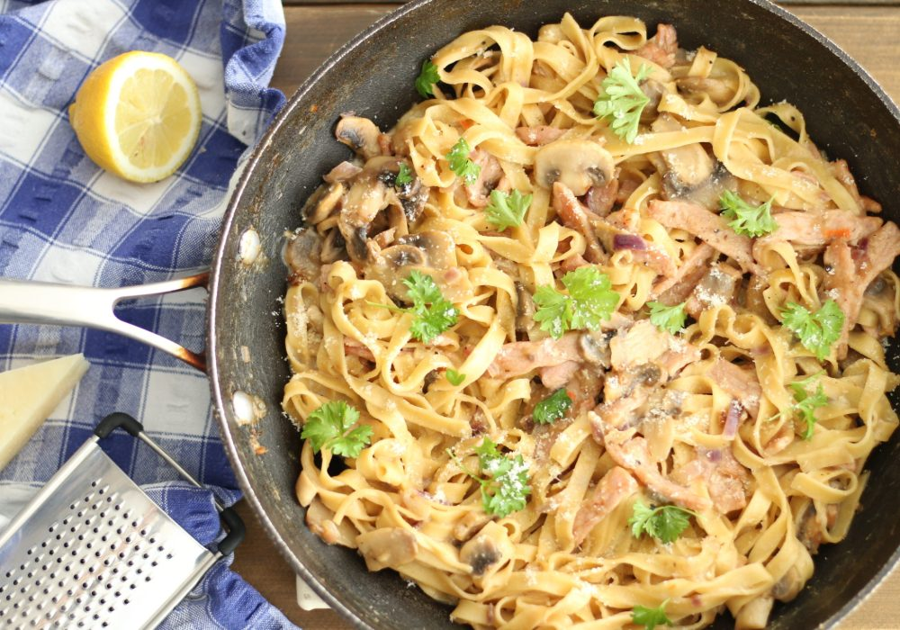 Low-Fat Carbonara