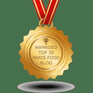 Voted Top 30 Paris Food Blog