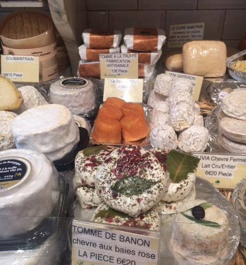 Various Cheeses at a French Market, Barthelemy