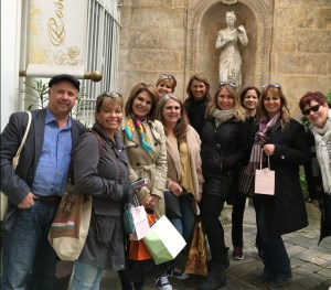 Group of A Taste of Paris vistors on Paris streets