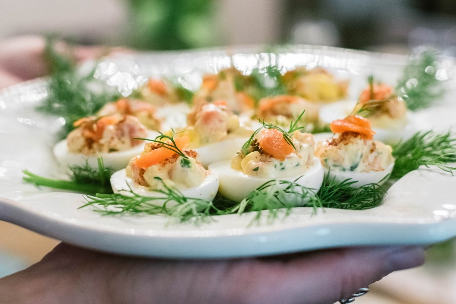 Salmon & Dill Deviled Eggs