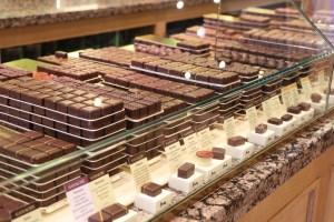 The chocolate counter at La maison du Chocolat.