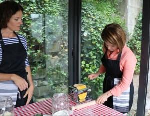Lorie making pasta