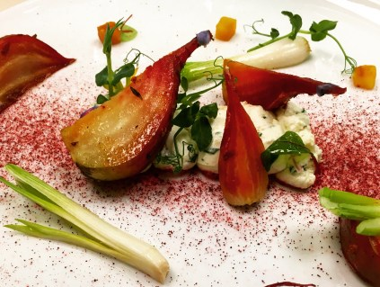 Beet and goat cheese salad from the Ritz in Paris.
