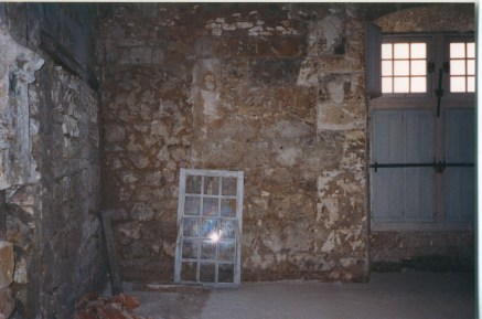 Chateau in disrepair before construction.