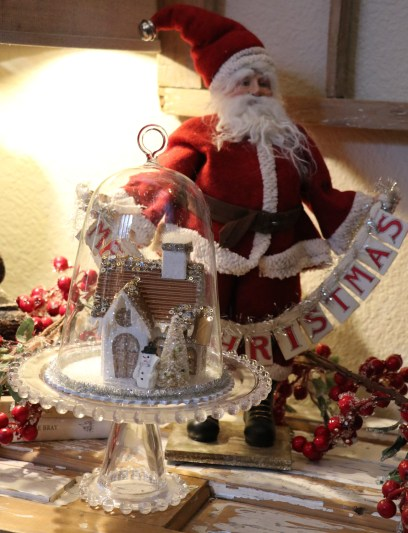 Santa and other Christmas decorations