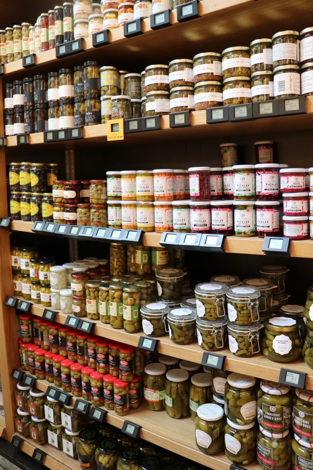 wall of French olives