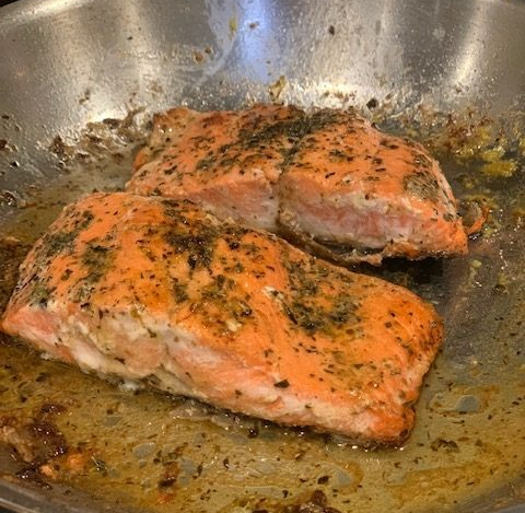 Provencal Salmon in a pan