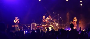 Band on stage at rootstock in Beaune France