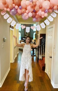 Brooke with balloon garland