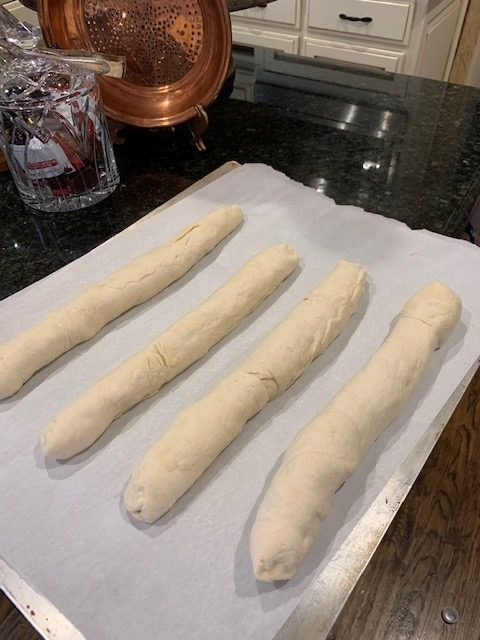 My New Favorite French Bread Recipe loaves ready to rise