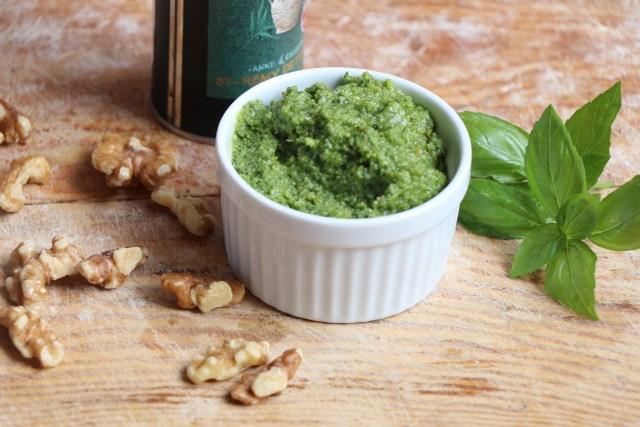 Basil Pesto for Caprese Panini Recipe