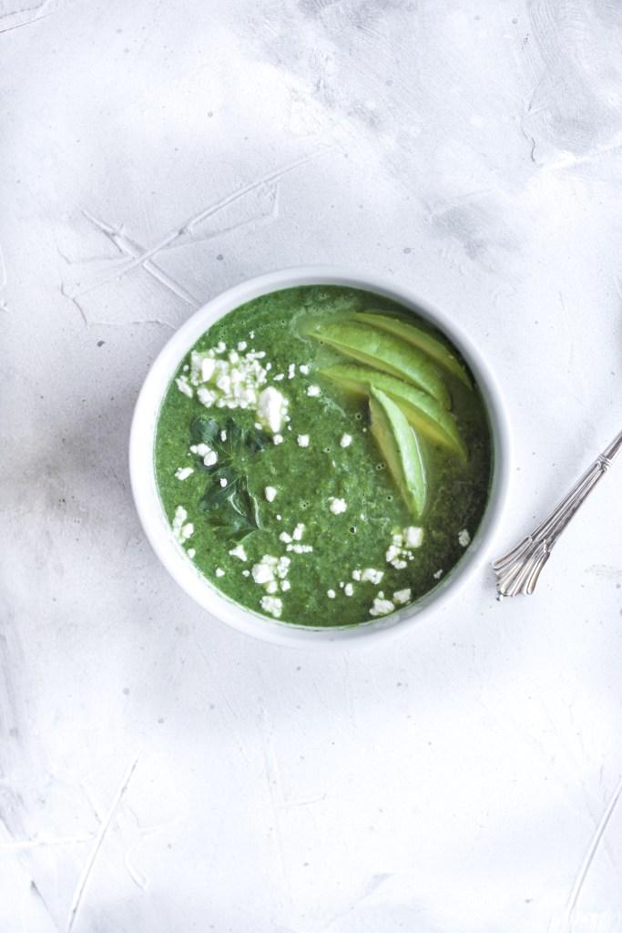 15 Minute Asparagus Spinach Detox Soup