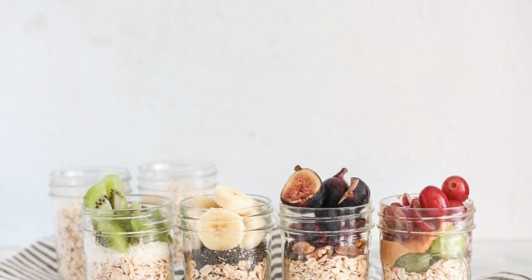 Meal Prep Oat and Fruit Breakfast Jars
