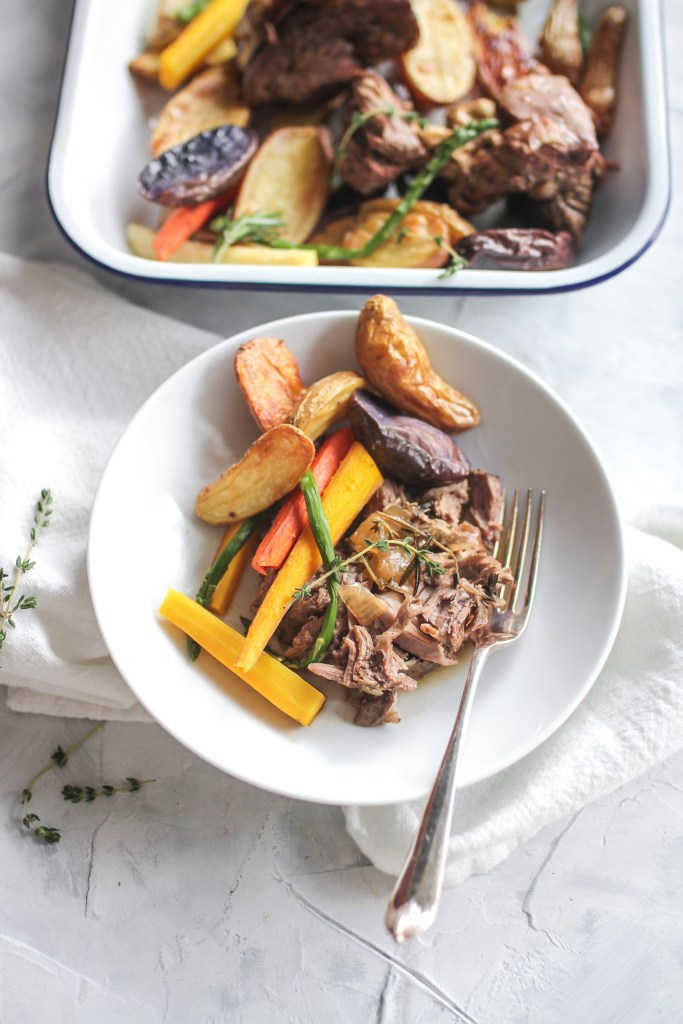 Sunday Supper Lamb Roast with Vegetables