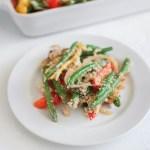 Healthier Green Bean and Pepper Veggie Casserole