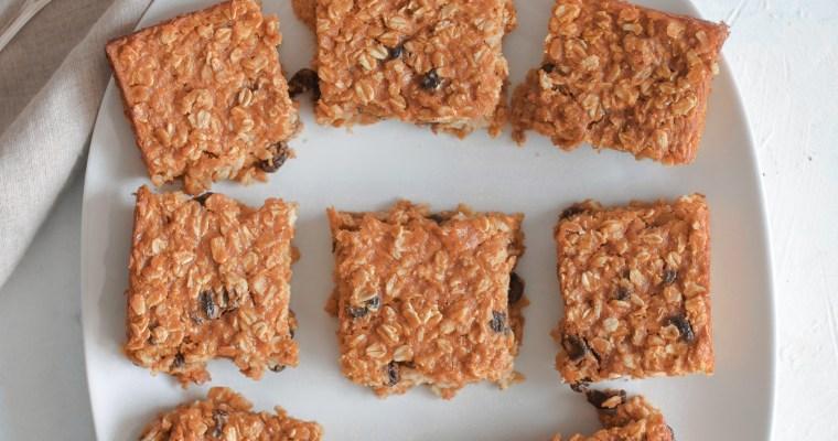 Healthiest Pumpkin Oatmeal Raisin Breakfast Squares