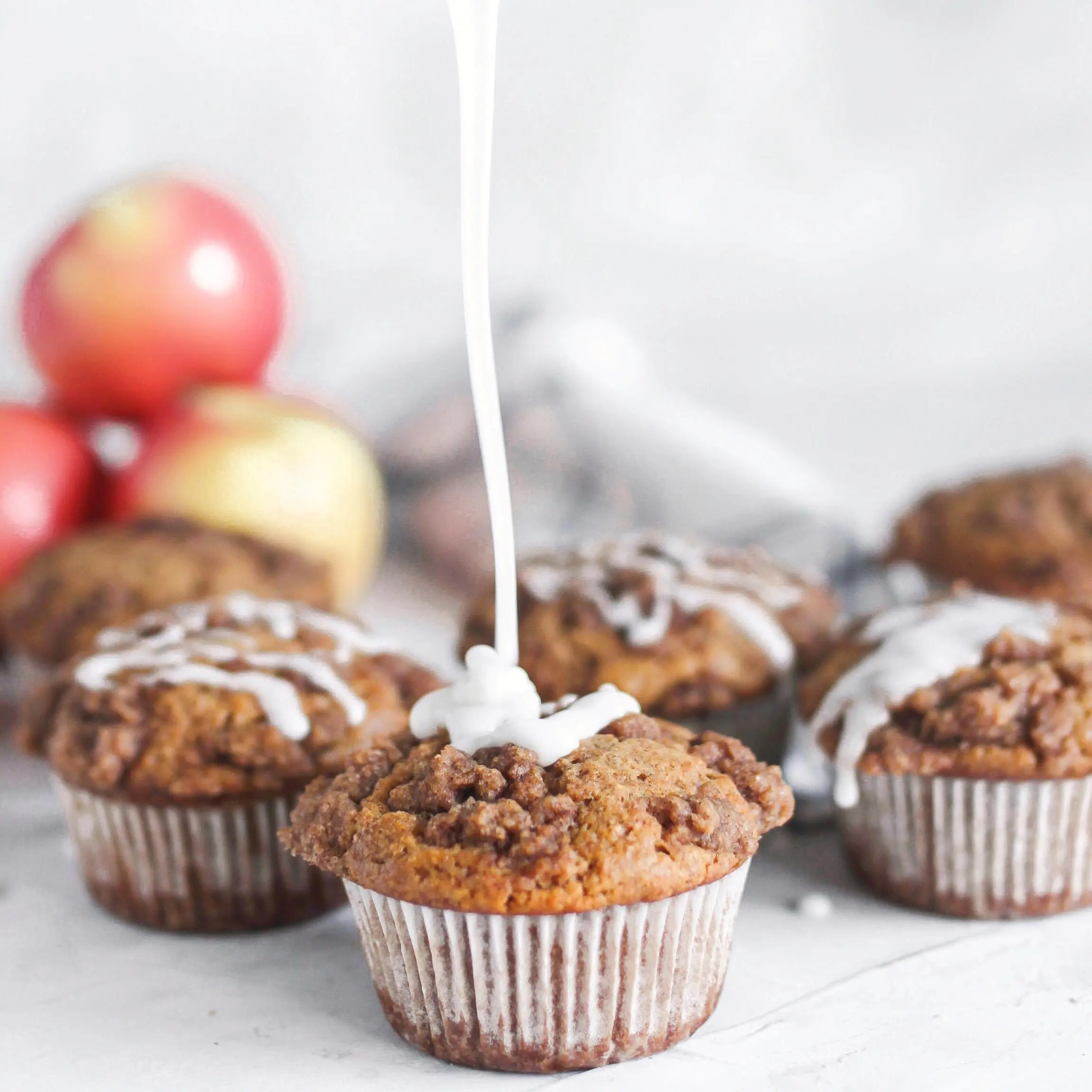 Apple Sauce Crumb Topping Muffins