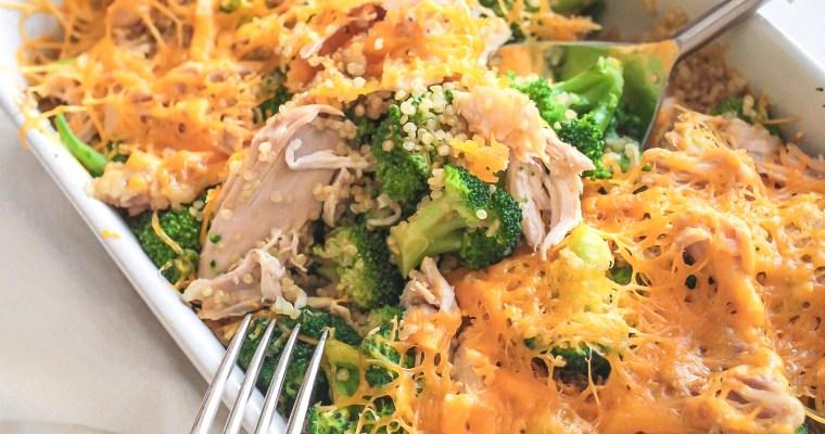 Gluten-free Quinoa Broccoli Cheddar Casserole