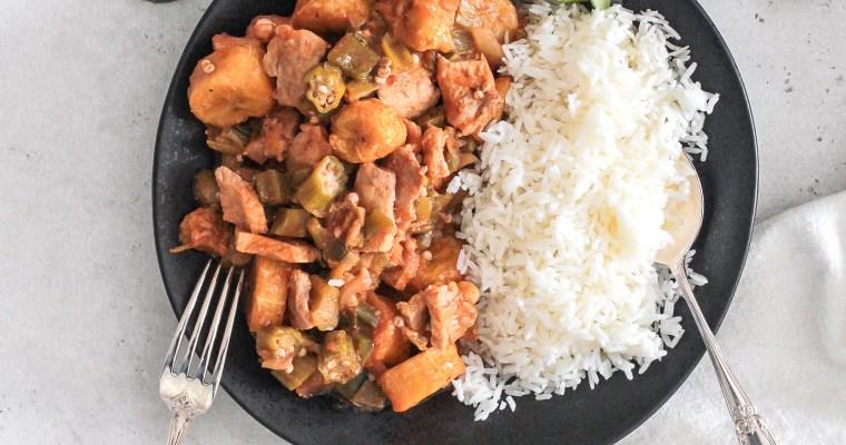 Cuban Quimbombo Okra Stew