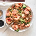 Shrimp Rainbow Veggie Fried Cauliflower Rice